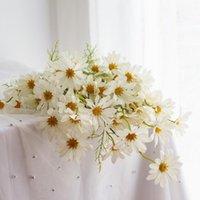 Petite marguerite fleurs artificielles bouquet décorations de Noël pour salon à la maison Salon fraîche DIY Decor Couronnes décoratives de soie