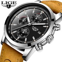 LIGE Quartz men's watches sport business watch men top brand luxury wristwacth men military waterproof clock Relogio Masculino Q0310