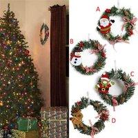 Boneco de neve Decorações de Natal Cervo Pano Art Guirlanda Rattan Reed Garland Decoração Ornamentos Festa Fontes Home Owb7341