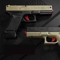 Gel manuale giocattolo Glock Gock pistola Pistola con proiettili d'acqua Arma sicura in plastica per bambini adulti Gioco all'aperto