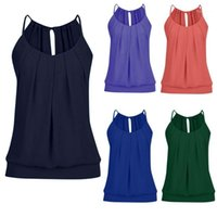Sexy Tanks Donne Summer Summer Skinkled O Neck Cami Tank Top Vest Blouse Mujer Style Vogue Fashion 2019 New1