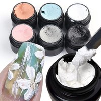3D Acrylic Engraved Drawing Nail Gel Polish Three Dimensional Nails Plaster Effect Gypsum Glue DIY Manicure Gels Flowers Carving No Need Top Coat Decoration