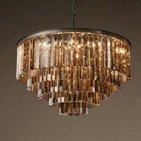 Kronleuchter luxus k9 kristall kronleuchter beleuchtung für wohnzimmer speisen amerikanische stil schwarze lampenbody kreative kithchen hängende lampen