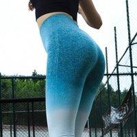 Yoga Outfits High Waist Tummy Control Fitness Leggings Pants Scrunch BuWomen Tight Seamless Sports Running Sweatpants