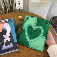 Fashion Women Love Heart Messenger Bags Patchwork Ladies Little Shoulder Bag Crossbody Cups Cool Girls Mini Phone Pure Handbags