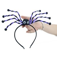 Party Favor Halloween simulation spider hair hoop women's holiday party horror headband clothing hair accessories T2I52749-1