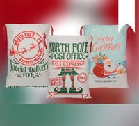 2021 Derniers styles Sacs-cadeaux de Noël Grand Sac de cordon Santa Sac Santa San Santa San avec Reindeers SN5667