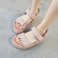 Sandals Sandles Women Summer Shoes Woman Flats Genuine Leather Platform For 2021 Designer Heels Ladies
