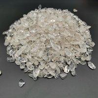 Artigianato artigianato pietra ghiaia al quarzo lucido 1000g 3-12mm Natural Clera White Mini Rock Mineral Specimen Guarigione può essere utilizzato per la decorazione della casa dell'acquario della pianta del serbatoio del pesce