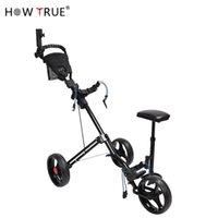 Straight Cart Faltbare Trolley mit Bench Golf Course Supplies