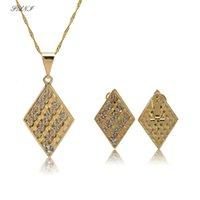 Earrings & Necklace Fani 2021 Fashion Geometry Shape Brand Pendant Earring Sets Choker Classic Wedding Women Costume Jewelry Set