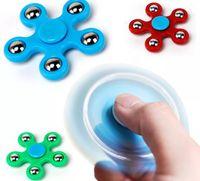 brinquedo decompressão artefato de aço plástico bola dedotip cinco contas dedo giroscópio