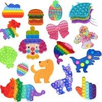 Multiple Bubble Fidget Zabawki Tie-barwnik Fidget Sensory Toy Autyzm Specjalne Wykres Reliever Reliever Kid Adult Educational Toy