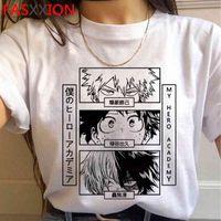 Mi Bakugou Para Hombre, Boku No Hero Academia Anime, Camiseta Estampada Todoroki, Parte Arriba de Estilo