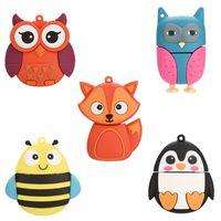 Animal USB Flash Drives 4gb 8gb 16gb 32gb 64gb Cartoon Pendrive Owl Fox Bee Creative U Disk lovely memory stick