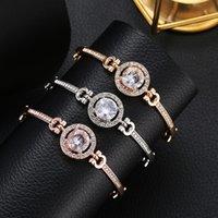 Fashion hot jewelry European and American women versatile simple temperament noble flash diamond bracelet manufacturers sales