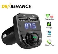 FM X8 Caricabatterie trasmettitore AUX Modulatore Bluetooth Vivafree Kit Audio Audio Lettore MP3 con 3.1A Carica rapida Dual USB caricabatterie