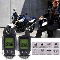 نظام أمن دراجة نارية دراجة نارية 2 طريقة إنذار سرقة حماية طويلة المدى المسافة LCD التحكم عن بعد