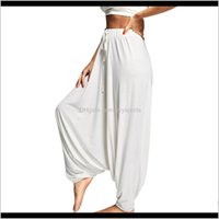 Outfits Azulina Women Trouser Drop Bottom Harem With Dstring Loose Plus Size Fitness Sports Yoga Belly Dance Pants Femme Egsr0 0673P