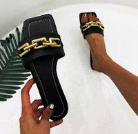 고품질 세련된 슬리퍼 샌들 패션 클래식 슬리퍼 샌들 여성 신발 일반 디자인 여름 huaraches 홈 체인