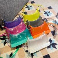 2021 new fashion spring and summer jelly sole bag chain armpit bags shoulder messenger bag female handbag
