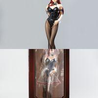 Anime Seksi Şekil Peri Kuyruğu Erza Scarlet Bunny Ver. 1/4 Ölçekli Boyalı PVC Action Figure Tahsil Modeli Yetişkin Oyuncaklar Bebek 47 cm R0327