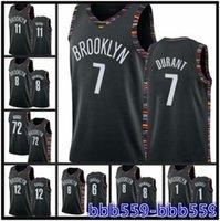 Menbrooklyn Net # Kevin Durant # Kyrie Irving # Camisetas de Baloncesto, Tecido Boutique Versão prensada a quente do jersey personalizado de basquete
