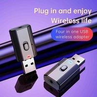Aux Coche Bluetooth Receptor 3.5mm Jack Audio Música Bluetooth 5.0 Kits de automóviles Adaptador de música inalámbrico Altavoz manos libres Auto Estéreo