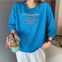 Camiseta Mulheres verão roupas tridimensional letra selo de aço grande solto 7/3 camisola de manga tops Tees