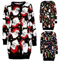Casual Dresses Fashion Womens Christmas Long Sleeve Dress Jumper Pullover Sweatshirt Mini