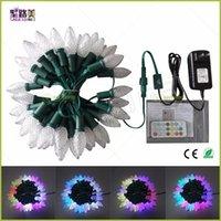 500 adet C7 / C9 10 grup Toptan Su Geçirmez IP68 Adreslenebilir RGB Tam Renkli DC12V WS2811 LED Noel Piksel Dize Işık Yeşil Tel Modülleri