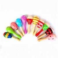 Baby Cabasa Toys Tijeras de madera Maracas Juguetes Música 20pcs / lote Instrumento Maracas Orff Kids Hammer Instrumento infantil Arena 1889 V2