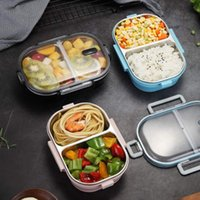 Dinnerware Sets Bignosedeer Bento Lunch Box Stainless Steel For Adults Kids With 2 Compartment Meal Prep Containers