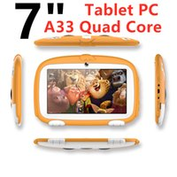 """Wholesale Child Tablets A33 Quad Core Computers Networking laptop Smart games for children WIFI 1GB RAM 16GB ROM Dual Camera Android Capacitive 7"""" Tablet PC"""