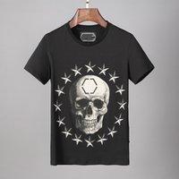 여름 유럽 및 미국 디자이너 라운드 목 티셔츠 남자 유행 젊은 짧은 소매 탑