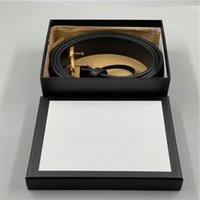 2021 мужская мода дизайнерский бренд ремень коробки типа дамы досуг письма большие золотые пряжки роскошные ремни AAA +++ 688