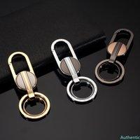 Upscale Metal Men Car Keychain High-end Keyring Auto Key Ring for Audi Suzuki SSANG YONG Tesla MINI Cooper Honda VW