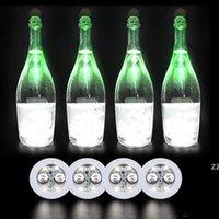LED-Flasche Aufkleber Untersetzer Licht 4LEDS 3M Aufkleber blinkende LED-Leuchten für Holiday Party Bar Home Party Verwenden Sie HWD8576