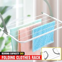 Foding Drying Rack Outdoor Bathroom Portabe Cothes Hanger Bacony aundry Dryer Airer Shoes Towe Poe Drying Rack Hoder