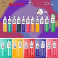 Ursprünglicher neuester Bang Max-Einweg-E-Zigaretten 3500 Puffs 8.0ml Kapazität 10 Farben vorhanden Flüssiges Silikon mit Geschenkbox vs XXL-Puffleiste plus Luftstange max