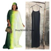 Ethnic Clothing African Dresses For Women 2021 Summer Clothes Dashiki Boubou Robe Africain Femme Abaya Kaftan Dress Hijab Scarf