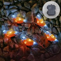 Strings 5pcs Led Birds Lights String Fairy Solar Garlands Garden For Outdoor Waterproof 5 Holiday Decor Lamp