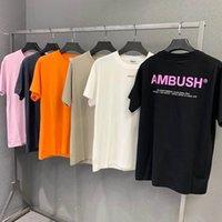 Hip Hop Abus T Gömlek Erkek Kadın Kaliteli Rahat Pamuk Turuncu Yansıtıcı High Street T-shirt Top Tees
