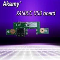 원본 ASUS X450CC USB 보드 IO REV 2.1 2.3 좋은 팬 냉각 테스트