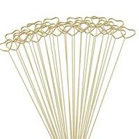 Regalos Envoltura de envases Florerist Bouquet Tarjeta de regalo Titulares de oro CORAZÓN REDONDO STAR METÁLLO DE METÁLLO DE METÁLICO PETRO CLÍN GWD10134