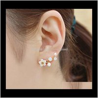 Jewelrykorean Style Women Fashion Crystal Earrings Beautiful Branch Shell Pearl Stud Earring Girl Fine Jewelry Valentines Day Gift Drop Deliv