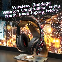 Universal A1 Graffiti Head-mounted Bluetooth Headphones 5.0 Foldable Retractable Sports Headset For iPhone Samsung Huawei