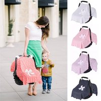 Stroller Parts & Accessories Baby Mom Lace Multi Use Carseat Cover Canopy Nursing Breastfeeding With Bow 110 X 77cm
