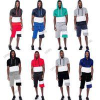 İki Yaz Erkek Eşofman Moda Spor Erkek Açık Kısa Kollu Pantolon Ince Casual Suit Büyük Boy M-4XL