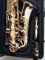 Yanagisawa A-W037 SAXOFONE ALTO SASSOFONO EB TUNE BRASS Strumento musicale Nickel argento placcato corpo in oro placcato laccato sax con cassa cappotto
